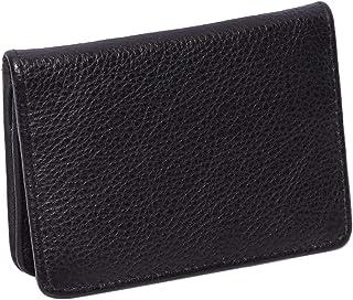 Laveri Genuine Leather Credit Card Holder Wallet Business and Credit Card Holder for Unisex - Leather, Black