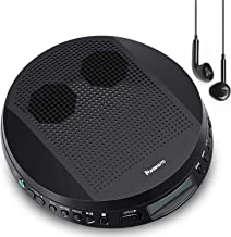 Portable CD Player with Stereo Speakers and Headphones, Personal Compact Disc CD Player with LCD Display, Anti-Skip/Shockproof Protection and 3.5mm AUX Cable