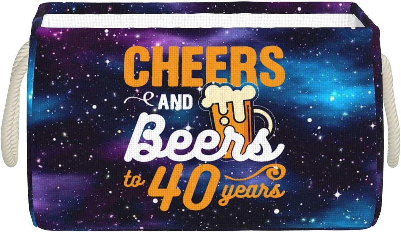 Ramanlas Indefinitely 40TH Birthday Beers Storage Bins Sto Very popular with Large Handles