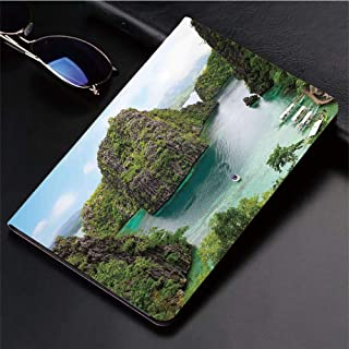 3D Printed iPad Pro 10.5 Case,Majestic Cliff in Philippines Wild Hot Nature,Protective Cover with Auto Wake/Sleep Compatible with Apple iPad Pro 10.5 inch 2017 Tablet