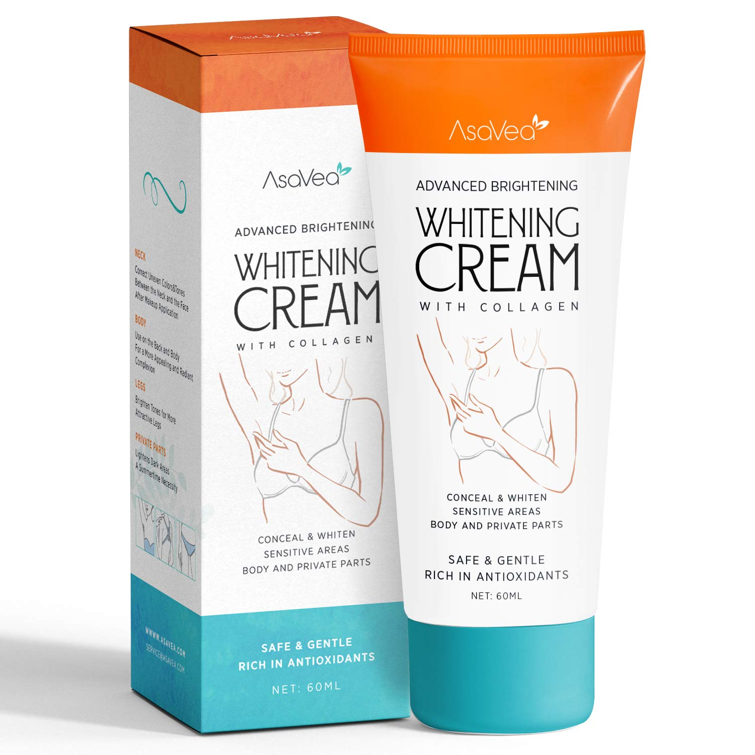 Whitening Cream Armpits Intimate Between