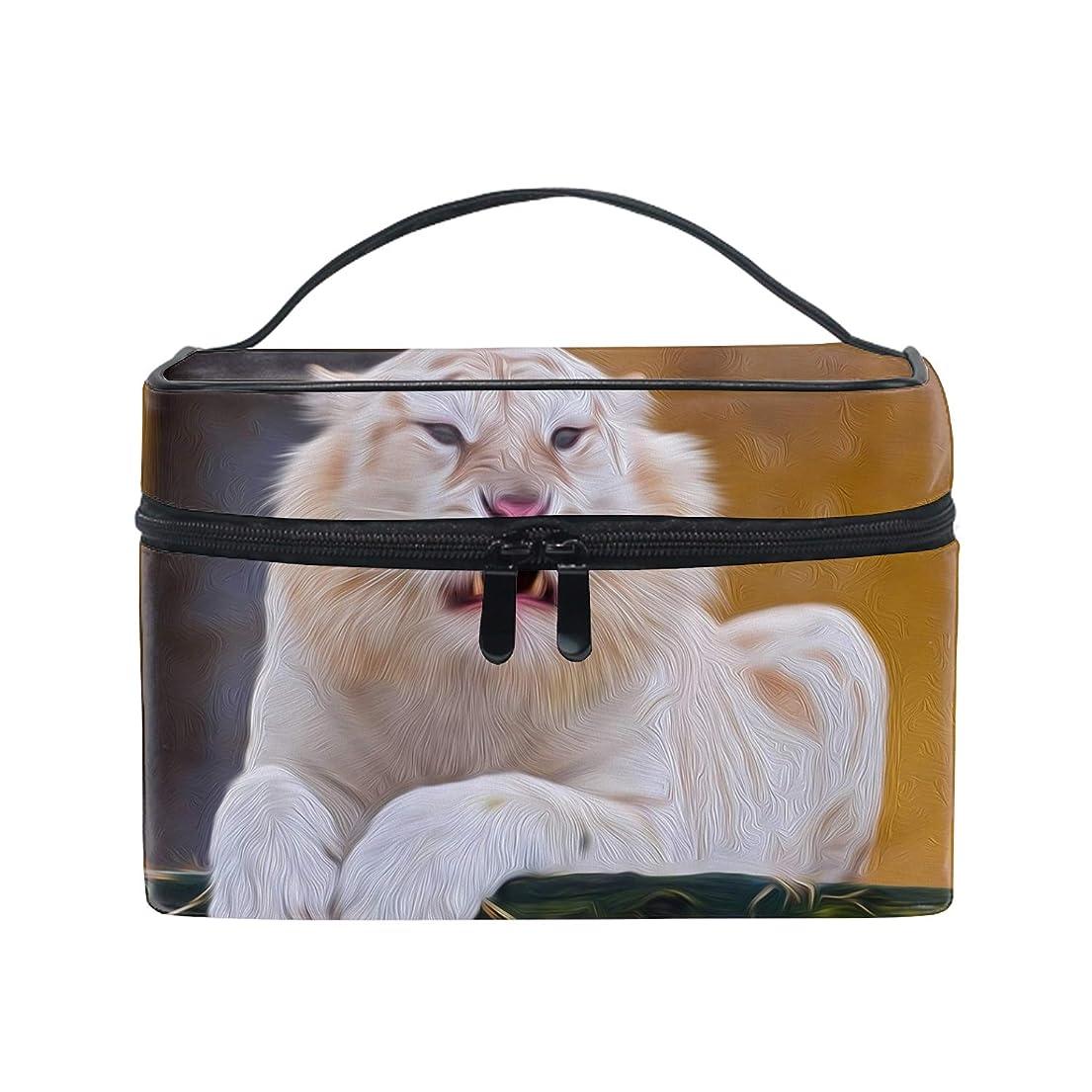 温帯インストール租界化粧ポーチ ワイヤーポーチ 収納ケース レディース動物の白虎アート