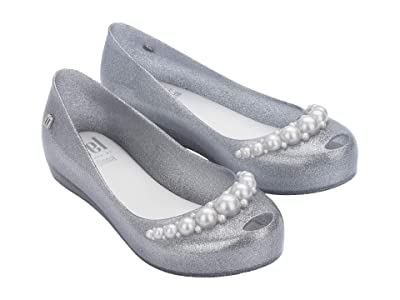 Mini Melissa Mel Ultragirl Girly INF (Little Kid/Big Kid) (Silver Glitter) Girl