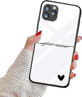Suhctup Personalizzata Cover per Huawei P20 Lite 2018/Nova 3E Custodia in Vetro Temperato con Cuore Testo Personalizzabili...