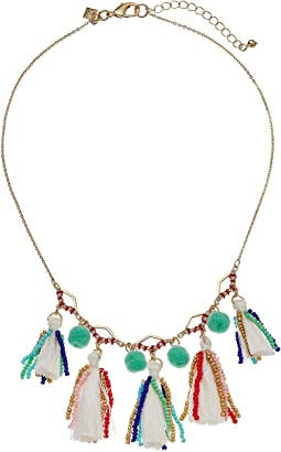 Geo Multi Tassel Short Necklace