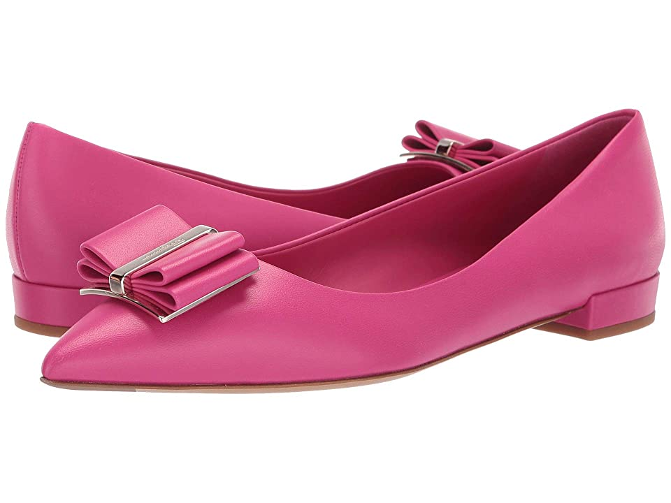 Salvatore Ferragamo Zeri Flat (Bubble Gum New Nappa) Women