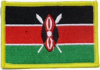 ALBATROS Kenya Country Flag (Pack of 3) Iron On Patch for Home and Parades, Official Party, All Weather Indoors Outdoors
