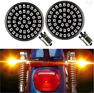 Eagle Lights Generation II Midnight Edition Rear 1156 Amber 2 Inch LED Turn Signals for Harley Davidson