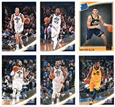 2018-19 Donruss Basketball Utah Jazz Team Set of 6 Cards: (Rookies included) Ricky Rubio(#53), Donovan Mitchell(#63), Joe Ingles(#73), Derrick Favors(#83), Rudy Gobert(#93), Grayson Allen(#156)