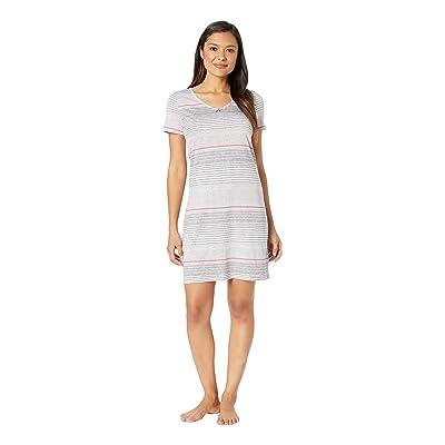 Nautica Short Sleeve V-Neck Sleep Shirt (Multi Stripe) Women