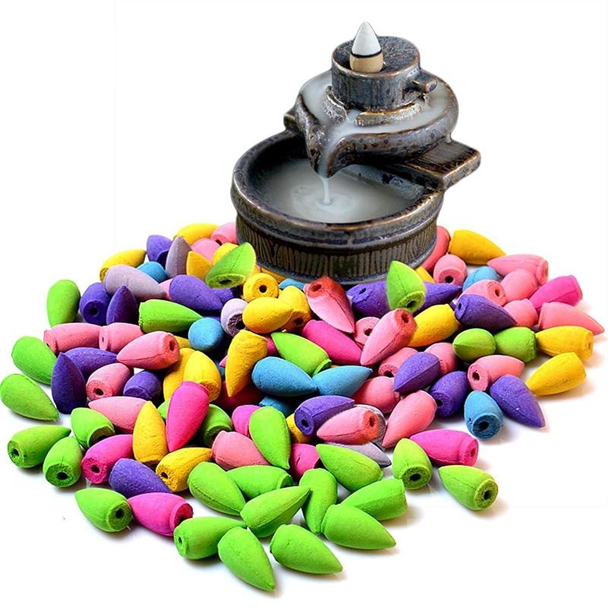 販売計画発明する何ECYC Rerro  陶器の香炉 室内用バックフローつり香炉 アロマセラピー用の香立て  収集可能 B01LC3EI7O