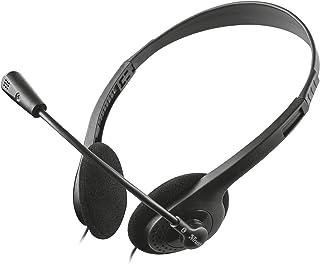 Trust - Auriculares con Micrófono para PC (Ideales para Skype) Color Negro, 21867