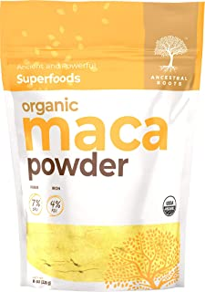 Sponsored Ad - Ancestral Roots Organic Maca Powder - Ancient and Powerful Superfood (8 oz)