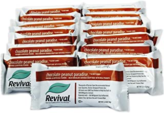 Revival Low-Carb Chocolate Peanut Paradise Soy Protein Bar, 20g of Natural Soy Protein ~160mg of Soy Isoflavones, Low-glycemic, Plant Based Protein, Kosher, Low-Fat, Low-carb, Non-GMO, 15 Bars