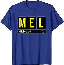 MEL Melbourne Australia Travel Souvenir T-Shirt (Yellow)