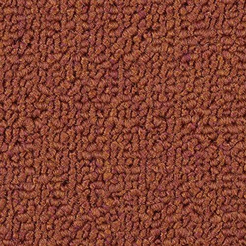 Teppichboden Auslegware | Schlinge gemustert | 400 und 500 cm Breite | orange rot | Meterware, verschiedene Größen | Größe: 4,5 x 4m