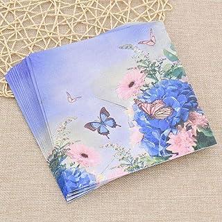 HXQCZ 20ps/bag Dragonfly Paper Towel Napkin Tissue Cartoon Printing Paper Handkerchiefs Home Wedding Party Restaurant Use ...