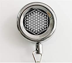 Bring Me The Horizon Sempiternal Flower of Life Pendant Necklace or Keychain Retractable Badge Reel with Waterproof ID Holders & Keychain