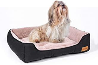 BANGTOP Dog Bed Medium Dogs, Durable Dog Couch Pet Bed Machine Washable, Calming Cat Bed for Most of Cats