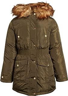 Girls' Anorak Jacket with Fur Hood