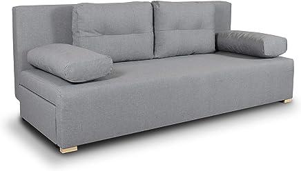 Schlafsofa Nessa Klappsofa Mit Bettkasten Sofa Mit Schlaffunktion Schlafcouch Mit Chromfusse Couch Couchgarnitur Sofagarnitur Wohnzimmer