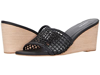 KAANAS Pipa Wedge with Braided Fishnet Upper (Black) Women
