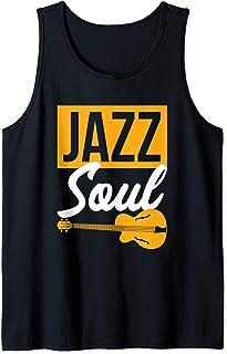 Gift for Guitar Player 'Jazz Soul' Jazz Music Lover - Jazz Tank Top