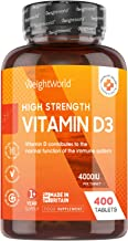 Vitamine D 4000 ui Extra Fort - 400 Micro Comprimés de Vitamine D3 Hautement Dosés Végétariens, Faciles à Avaler, Testés en Laboratoire - Cholécalciférol - Système Immunitaire, Muscles et Os