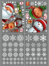 Kerstdecoratie venster Stickers Xmas Double Sides Double Sides Decals Elk for Holiday Party Wall Windows Glass Office Deur...