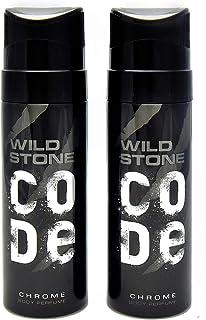 Wild Stone Code Chrome Body Perfume Spray for Men, Pack of 2 (120ml each)