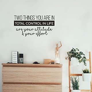 Vinyl Wall Art Decal - Two Things You are in Total Control in Life Attitude Effort - 13