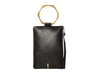 THACKER Nolita Hexa Clutch (Black) Clutch Handbags