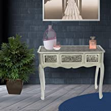Vogue Desk with Drawer, Black/Silver, MB-117521, H43 x W101 x D28 cm