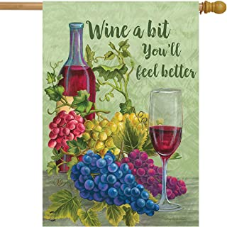 Briarwood Lane Wine a Bit You'll Feel Better House Flag Grapes Vino 28