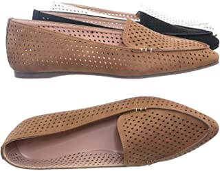 Aquapillar Pointed Toe Perforated Loafer - Women Flat Slipper w Hole Cutout