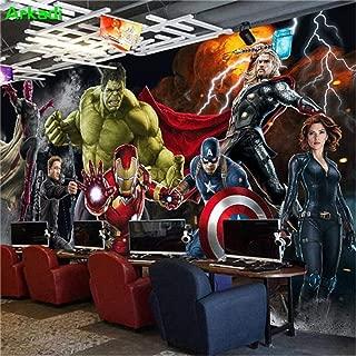 Mural Wallpaper 3D Avengers Photo Wallpaper Hulk Iron Man Captain America Mural Boys Bedroom Mural-250x400cm