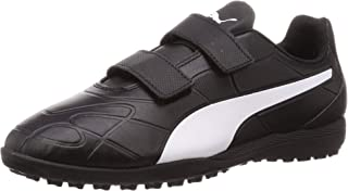 Puma Unisex Kid's Monarch Tt V Jr Black White Football Shoes
