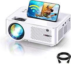 """Bomaker HD Outdoor WiFi Mini Projector, Wireless Movie Projector for iPhone, Native 1280x800P, 1080P, 100"""" Display Support..."""