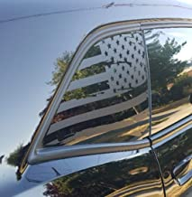Elevated Auto Styling- Distressed American Flag Window Decal Fits Dodge Challenger 2008-2018