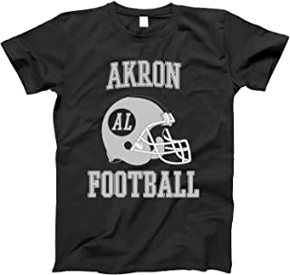 4INK Vintage Football City Akron Shirt for State Alabama with AL on Retro Helmet Style