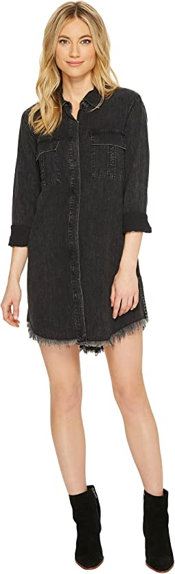 Hudson - Bijou Button Up Front Dress in Smoke Screen