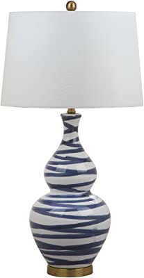 Safavieh TBL4052A Lighting Collection Aviana White and Blue Table Lamp