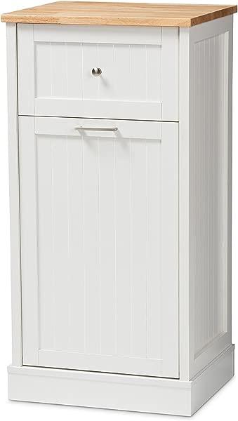 Baxton Studio 147 424 8320 AMZ Monica Kitchen Cabinet White Oak Brown