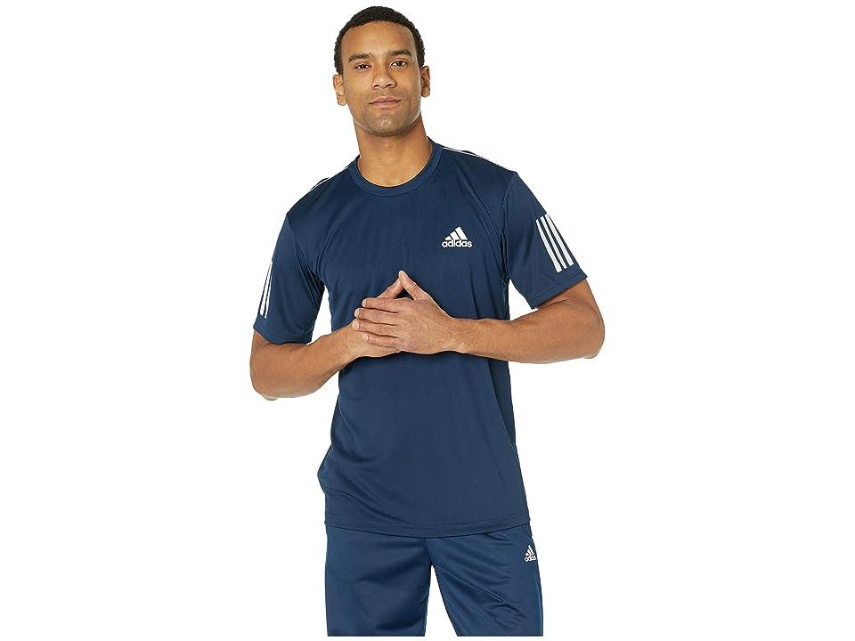 adidas Club 3-Stripes Tee (Collegiate Navy/White) Men