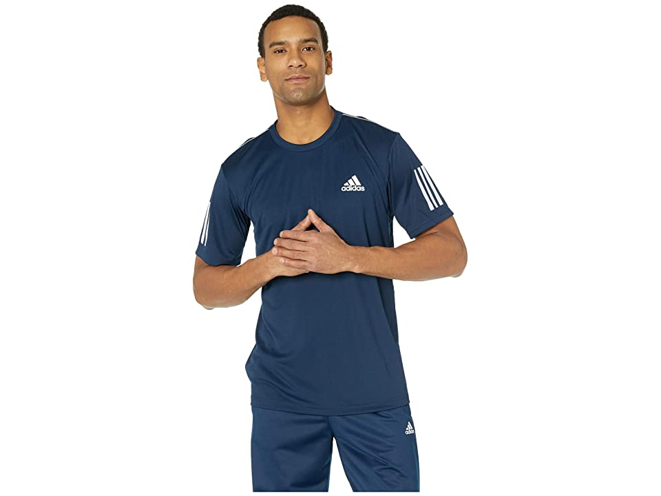 adidas Club 3-Stripes Tee (Collegiate Navy/White) Men's T Shirt