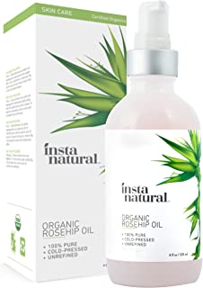 Organic Rosehip Seed Oil - 100% Pure, Unrefined Virgin Oil - Natural Moisturizer for Face, Skin, Hair, Stretch Marks, Scars, Wrinkles, Fine Lines & Nails - Omega 6, Vitamin A and C - 4 oz