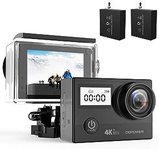 DBPOWER n5Pro WiFiアクションカメラ4K Ultra HD 20MPスポーツカメラ30M水中防水170度調整可能広角レンズビデオカメラ充電式電池2本とマウントアクセサリーキット