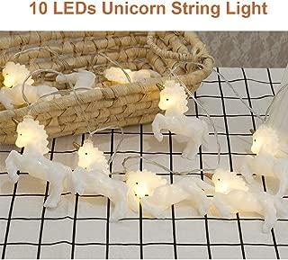 PGYFIS String Light Unicorn Shape 10 LED Light Battery Powered for Christmas Halloween Thanksgiving Holiday Decoration (Unicorn)