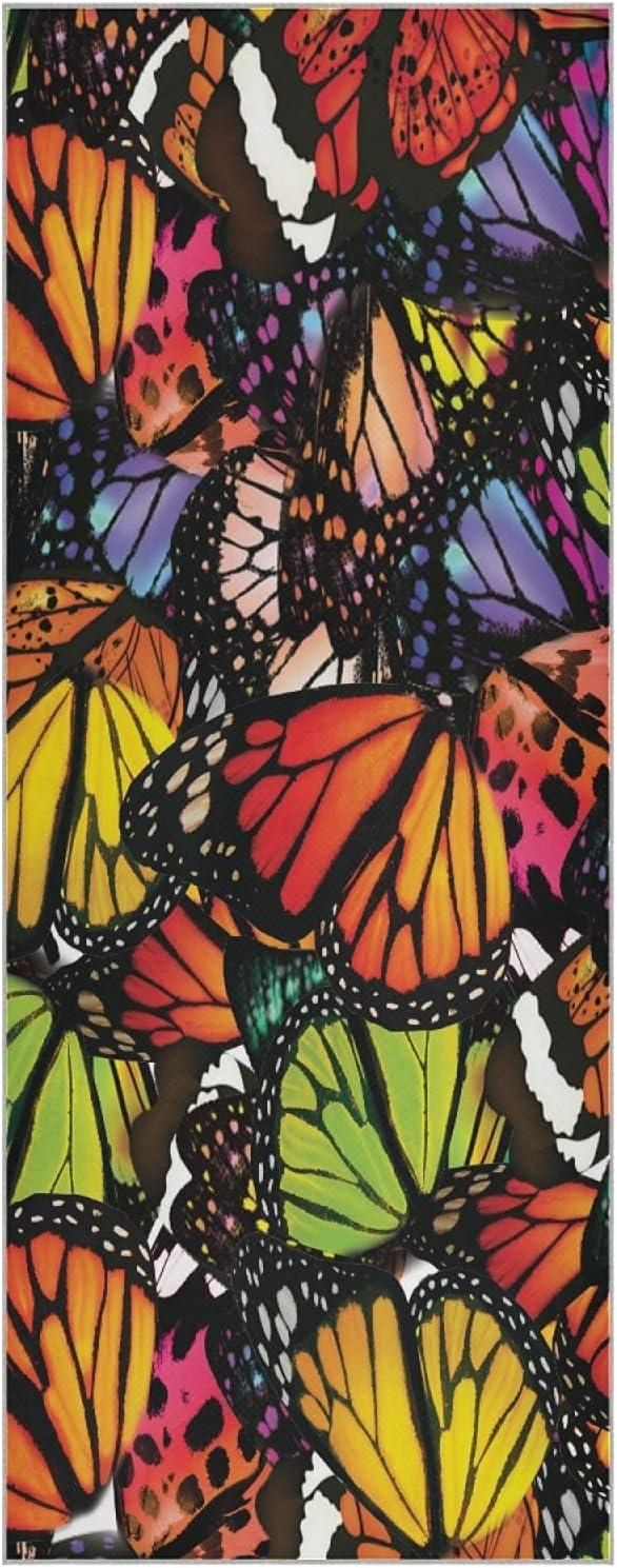 Mazeann Butterfly Fashion Yoga Mat Fiber Super intense SALE Ranking TOP12 Towel Abso Sweat