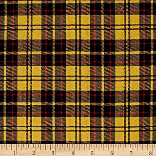 Robert Kaufman Kaufman Sevenberry: Classic Twill Plaid Yellow Fabric by The Yard